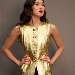 Vintage Yves Saint Laurent gold leather top